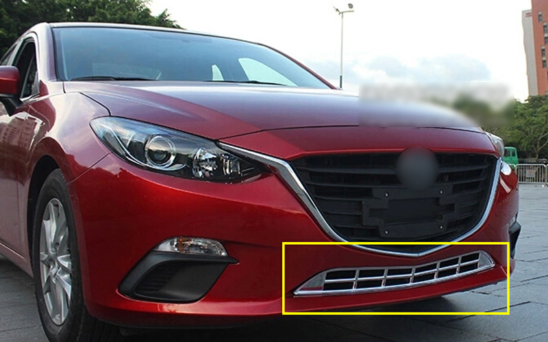 ФОТО Bottom front center grille grill frame cover trim 1pcs for Mazda 3 Axela 2014 2015