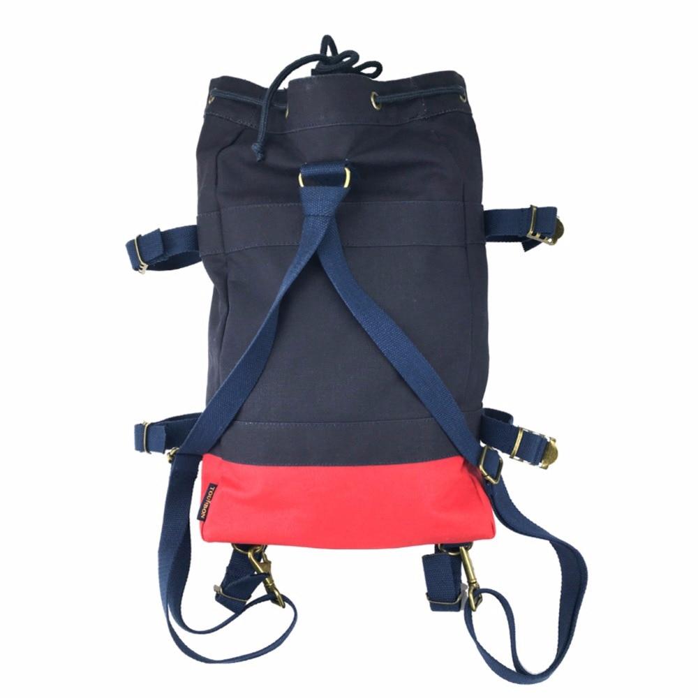 Tourbon Design Hiking Climbing Rucksack Bike Cycling Pannier Bag Saddle Canvas Backpack Navy Blue Leisure Bag boodun bd b03 bicycle bike oxford cloth saddle bag blue