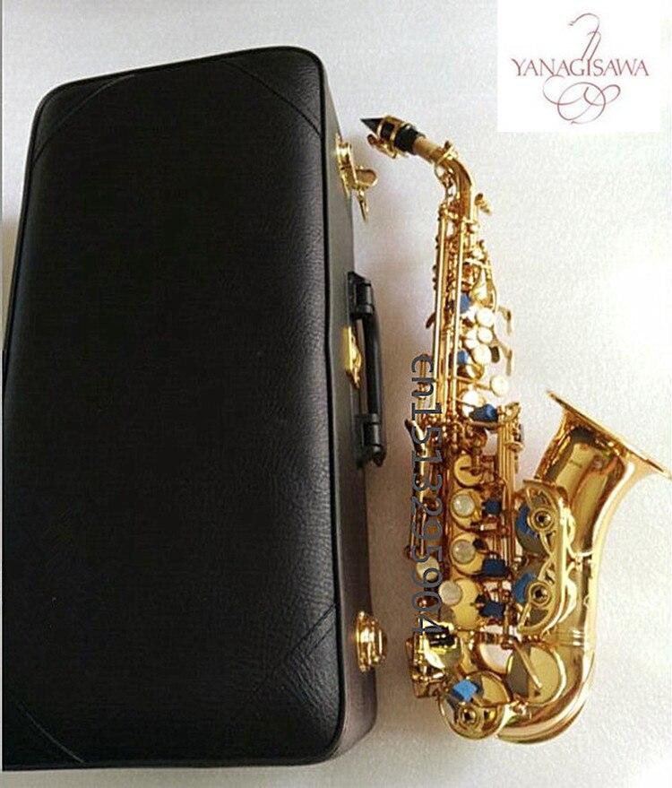 Saxophone soprano Bb D'or saxophone de enfants professionnel instrument accessoires Complets expédition libre Sax soprano