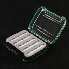Fly Fishing Box Double Side Design Open Plastic Small Portable Waterptoof  Fly Box
