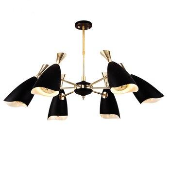 Moderno e minimalista loft personalità creativa camera da letto soggiorno lampadario lampada design Lampadario In Ferro Lampada Ristorante