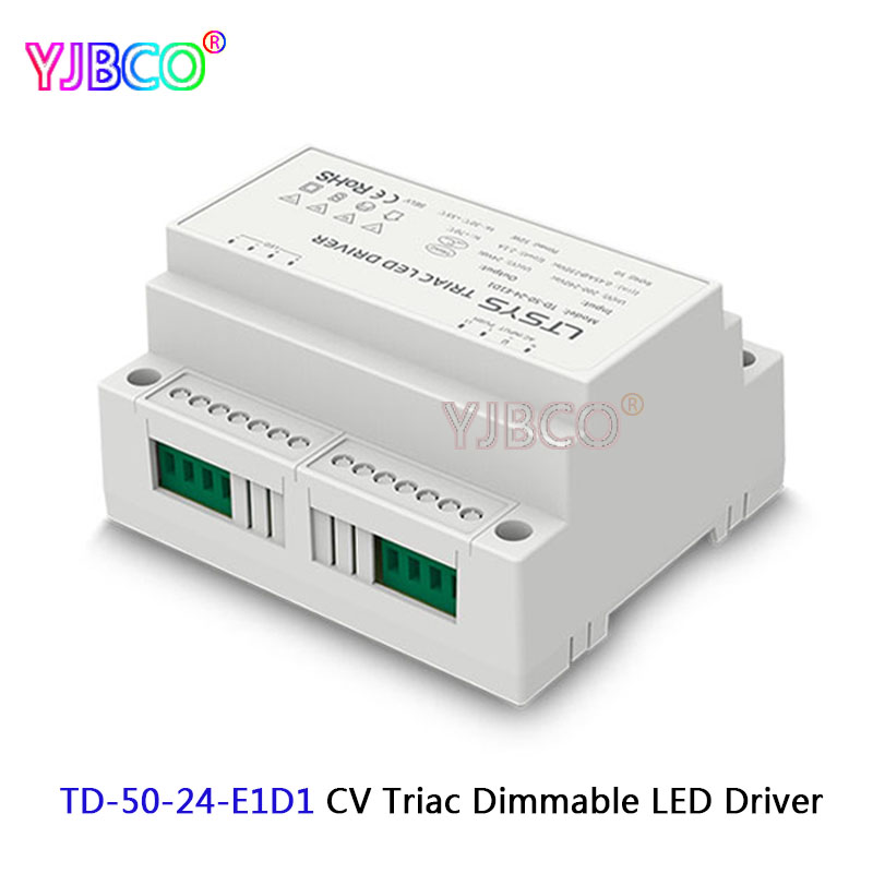 TD-50-24-E1D1 Output 50W DC24V 2.1A constant voltage Triac Dimmable intelligent LED Driver Triac Push Dim,200-240VAC input, kvp 24200 td 24v 200w triac dimmable constant voltage led driver ac90 130v ac170 265v input
