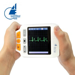 Image 2 - Heal Force Prince 180D Medical Portable ECG EKG Heart Rate Monitor LCD Chest Limb Electrocardiograph 3 channel 25pcs Lead wires