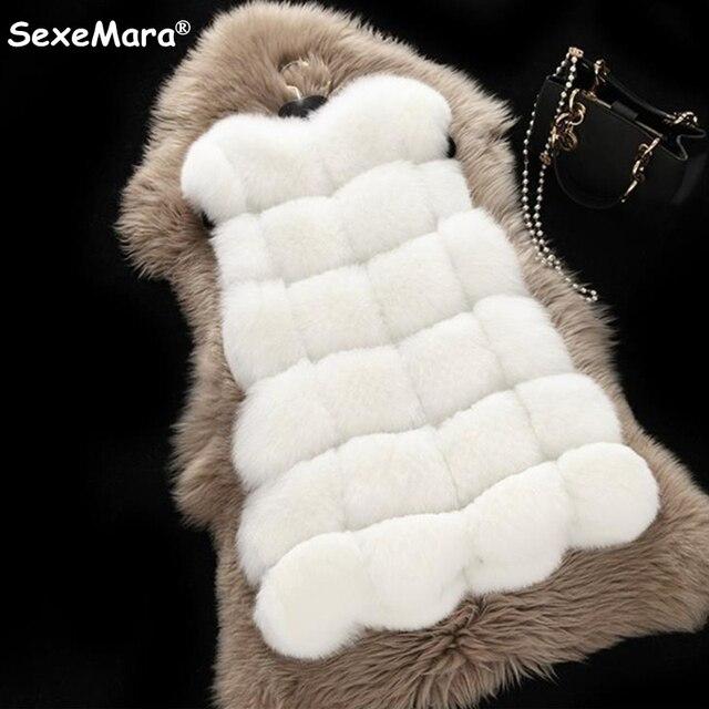 Бесплатная Доставка 2016 Зимнее Пальто женская Мода Теплый Пиджаки Тонкий Жилет Из Искусственного Меха Лисы Зимний Жилет Куртка Пальто Плюс размер