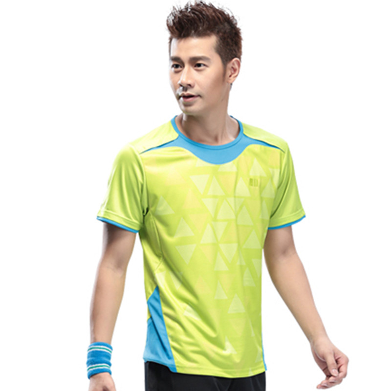 Mens Badminton Shirt Man Sports Shirts Quick Dry Sportswear Table Tennis t shirt Tennis Shirts 11016