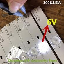 6 adet/grup CL 40 D307 V3 için LED aydınlatmalı 40PFL5708/F7 40PFL3188 40pfg4109/78 40phg4109/78 40PFT4109/60 40PFL3088H 776MM