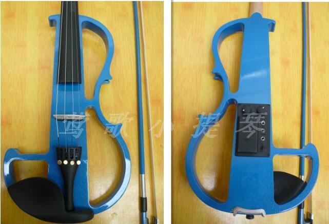 New arrival Blue 4/4 violin Send black violin Hard case Handmade blue electric violin with power lines for beginner фонарь black diamond wiz headlamp electric blue bd620624elblall1
