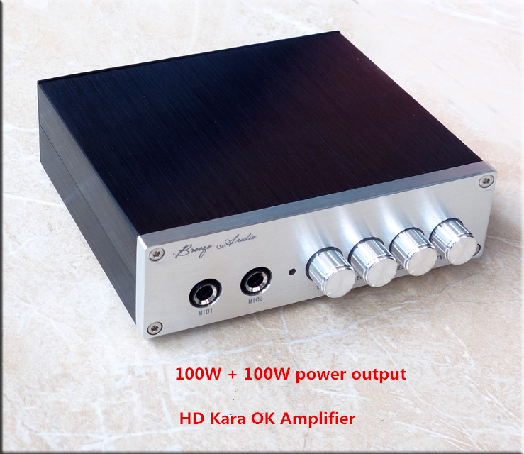 ФОТО Single DC 8-25V 100W+100W TPA3116D2 HD Kara OK Amplifier Double JRC5532 pre-op
