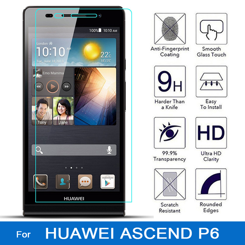 For huawei ascend p6 glass p6 s screen protector explosion-proof protective phone film cover p6s tempered glass for huawei p 6