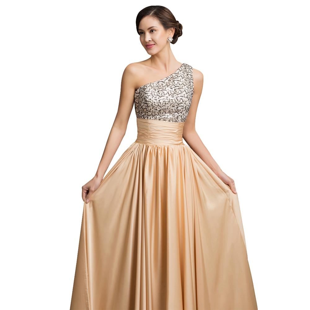 Elegant Grace Karin Sequins Long Formal Evening Dresses One Shoulder ...
