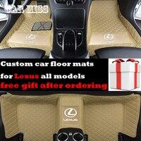 custom logo car floor mats for lexus nx lx470 IS350 LS RX GS CT GX LX RC RX300 LX570 RX350 All Models auto accessories car mats