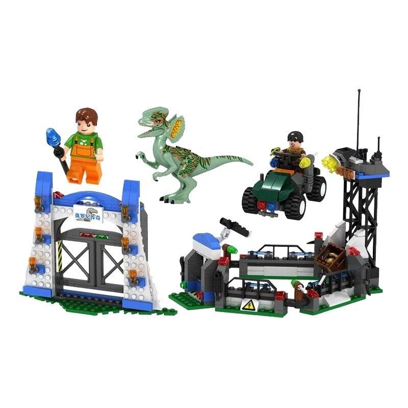 Legoing Jurassic World Dinosaur Diplodocus Escape 400Pcs