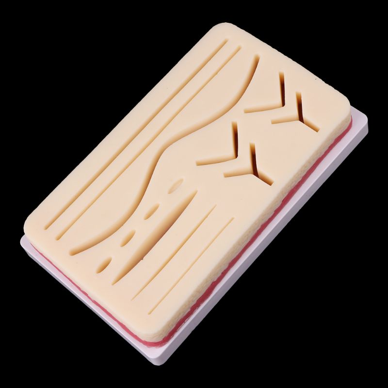 Medical Science Accessories Silicone Human Skin Model Suture Practice Pad Surgical Training Practice Tool dropshipping