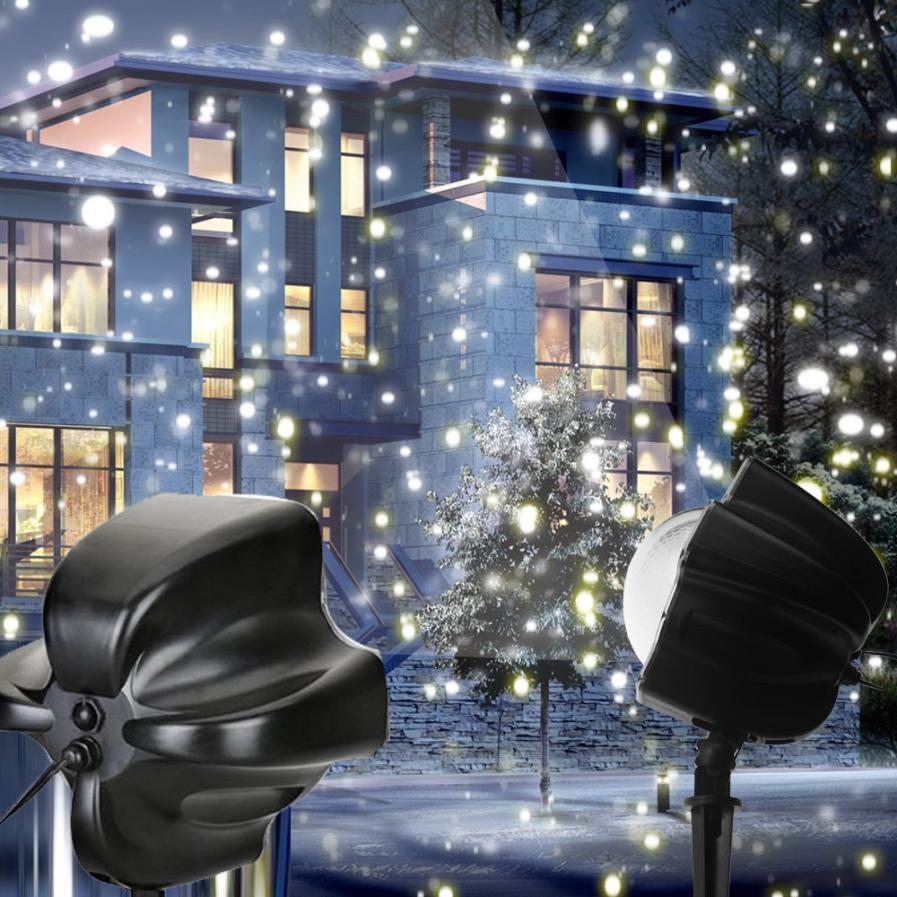 LED Snowfall Light Gift Rotating Night Light Home Decor Projector Snow Flurries Spotlight decoration 11.24