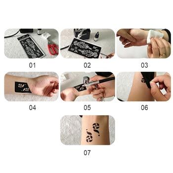 2Pcs/Set Temporary Tattoo stencil 25 designs Body Art Men Women Indian Henna pattern Beauty Waterproof Fake Arm Hand Reuse tatoo 5