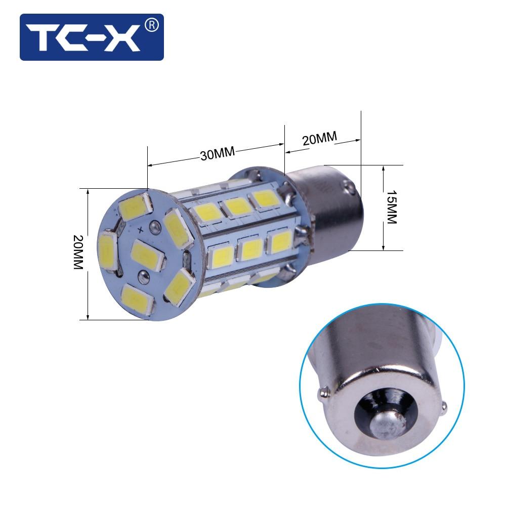 TC-X 2PCS Kereta Dipimpin Lampu Isyarat Lampu 1156 BA15s P21W - Lampu kereta - Foto 2