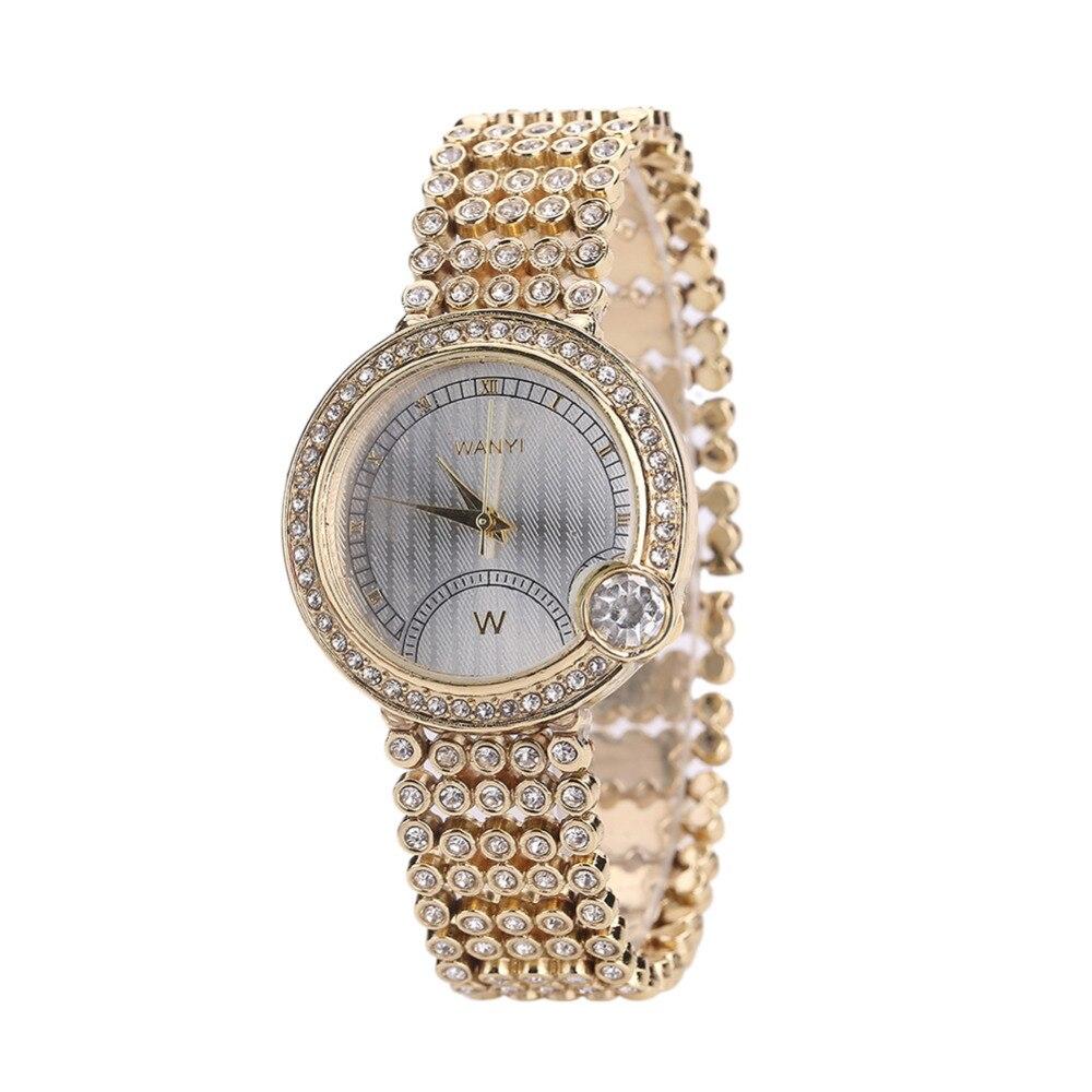 Women\'s Fashion Stainless Steel Band Rhinestone Analog Quartz Wrist Watch Gift цена и фото