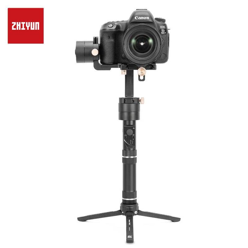 Oficial de ZHIYUN grúa más 3 eje estabilizador Handheld Gimbal 2500g carga útil para Mirrorless DSLR soporte de cámara POV modo
