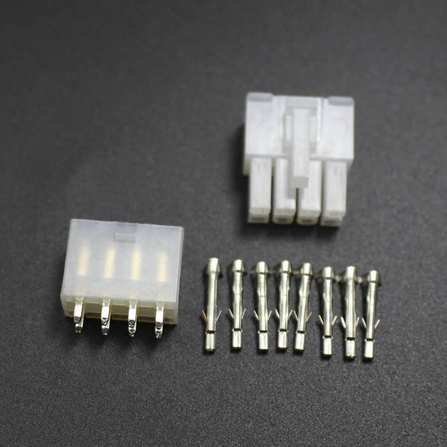2 sets 5557 5569 8 P Gerade Pin Draht Anschlussklemmen Elektrische Stecker 4,2mm 8-pin Stecker jack für Auto Auto PC ATX