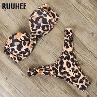 RUUHEE Bikini Swimwear Women Swimsuit 2021 Leopard Brazilian Bikini Set Push Up Bathing Suit Female Summer Beach Wear Biquini 1