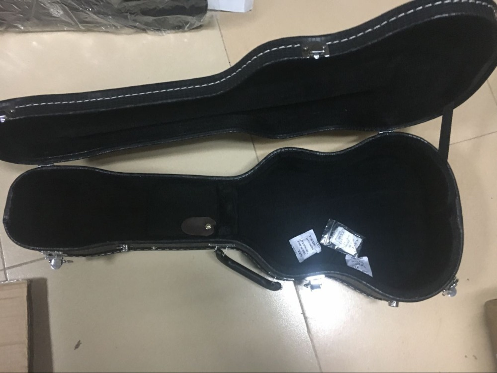 Mini boîte de guitare acoustique électrique caisse en bois noir porte-ukulélé porte-étui pour ukulélé 30 pouces - 3