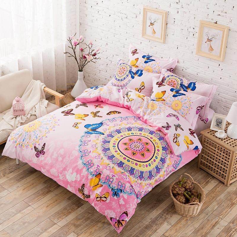 online kaufen gro handel lila schmetterling bettw sche aus. Black Bedroom Furniture Sets. Home Design Ideas