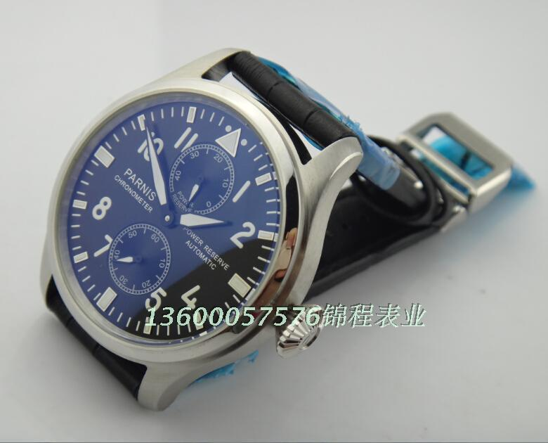 47mm PARNIS ST2530 seagull movement big pilot automatic Good quality watch 2014 new fashion Casual watch