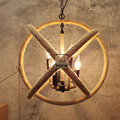 Retro 3 pendant lights  Hemp Rope lamps 90-260v Country vintage Ceiling Lamp Country Style lighting fixtures for Hallway  lobby