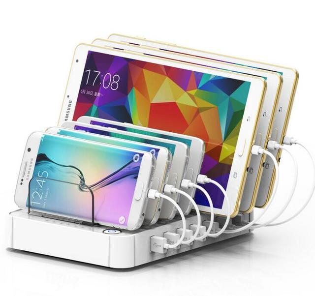 7 Port USB Fast Charging Station AC100 240V USB Charger Hub For Mobile Phone