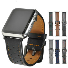 Genuine leather watchband strap For Apple Watch band 42mm/38mm & Crazy horse leather bracelet wrist belt for iwatch 3/2/1 series