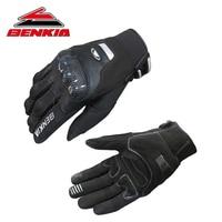 BENKIA Touch Screen Motorcycle Gloves Moto Luvas Protective Racing Gloves Carbon Fiber Protection HDF GK113