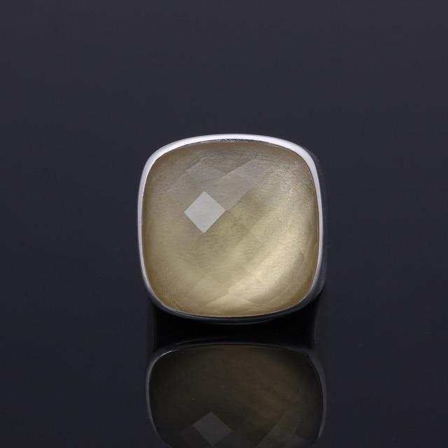 brixini.com - Genuine Natural 21.42ct Square Citrine Rings