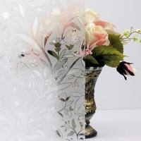 120 см x 500 см 3D статический цепляются декоративной пленкой окна Тюльпан Цветок конфиденциальности гравировкой Стекло виниловый стикер окна ...