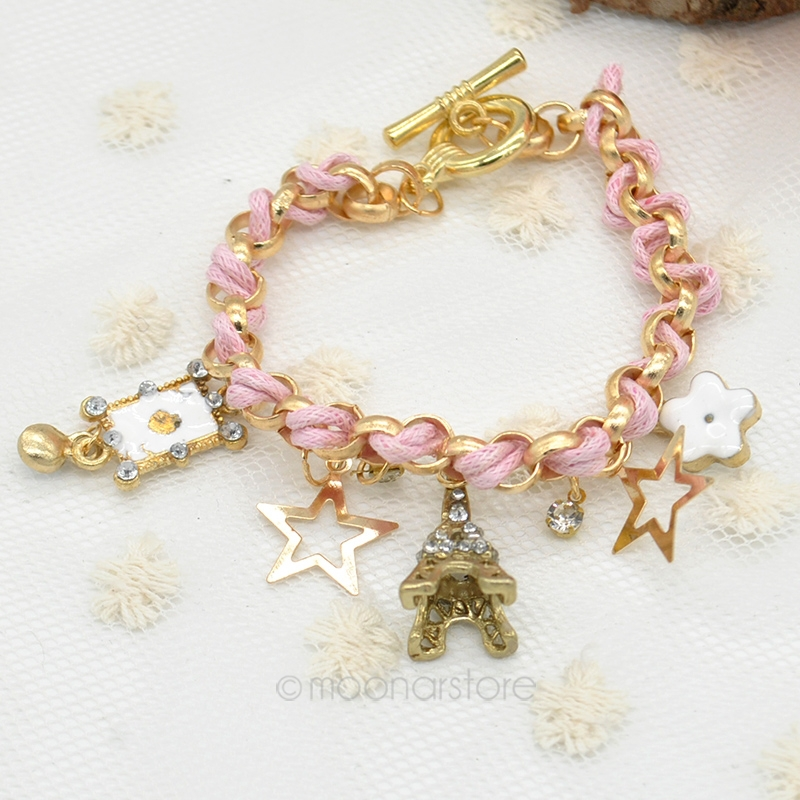 2015 Girls Cute Jewelry Fashion Poker Tower Stars Flower Gold ...