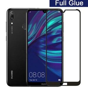 Закаленное стекло 5d с полным покрытием для Huawei Y7 2019, защита экрана с полным покрытием для Huawei Y 7 Y72019, 6,26, защитное стекло