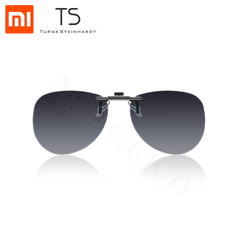 Xiaomi Mijia TS pilot clip sunglasses TAC lens 135 degree upturn Zinc alloy Clip Anti UVA protecting eyes Driver Night Glasses
