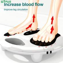 Elektryczny EMS masażer do stóp na podczerwień ogrzewanie stóp relexology masaż pulsacyjny o niskiej częstotliwości stymulacji krwi obiegowa booster