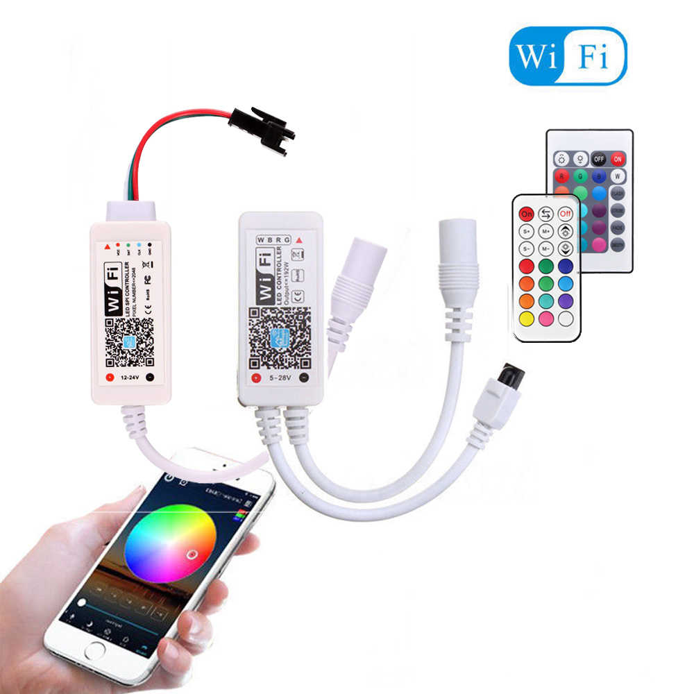 Bluetooth WiFi LED de contrôle Amazon Alexa Google Pixel à distance pour WS2811 WS2812B SK6812 couleur unique RGB RGBW rgb cct bande de LED