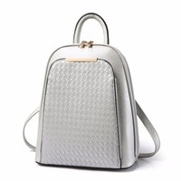 2018 NEW Spring And Summer PU Leather Women Female Backpacks 8 Colours Student Fashion Casual Bag