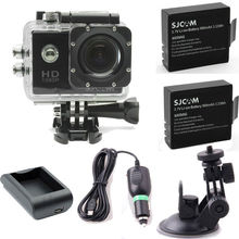 SJCAM SJ4000 Car Cam Sports DV 12-megapixel HD wide-angle lens Action Camera 2X Battery+Home/Car Charger+Bracket