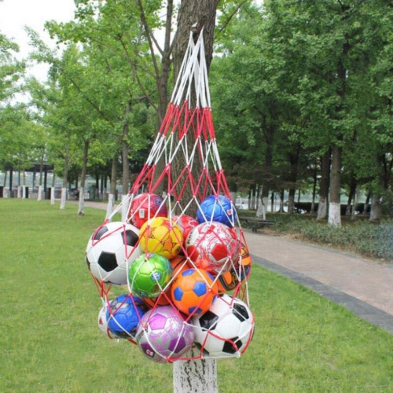 1pcs Portable Outdoor Sporting Soccer Net Balls Carry Net Bag Sports Equipment Football Balls Volleyball Ball Net Bag Hot Sale