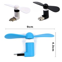 5 Pin Smartphone Mini Fan Portable Super USB Cooler Cooling mini Fan Creative USB Fan Portable Mini Fan For Xiaomi android Phone