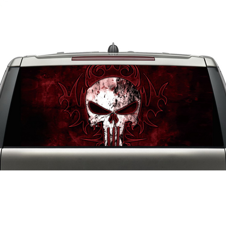 best sales products in alibaba express cool skull head car vinyl decals rear windshield graphics stickers with weather proof