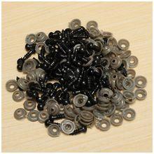 ABWE 100Pcs 6mm Black Plastic Safety Eye Washers For Teddy Toy Eyes Puppet Doll Craft