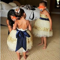 First Communion Dresses for Girl Strapless Flower Girl Dresses vestido de daminha Flower Girl Dress For Wedding With Sash Bow