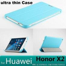 Роскошный pu кожа Case Обложка Для Huawei Honor X2 Mediapad X2 7 дюймовый телефон сумки случаи funda для huawei X2 + Экран протектор