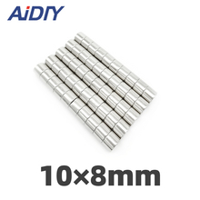 10/30/50 pcs 10x8mm permanent magnet N35 small round super strong powerful magnets neodymium 10*8mm