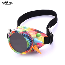 Steampunk Eyewear Rivet One-eyed Goggle Glass Welding Gothic Colorful  Cosplay Vintage Halloween Party Accessories