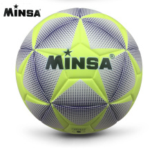 2017 New Brand MINSA High Quality A++ Standard Soccer Ball PU Soccer Ball Training Balls Football Official Size 5 and Size 4 bal(China)