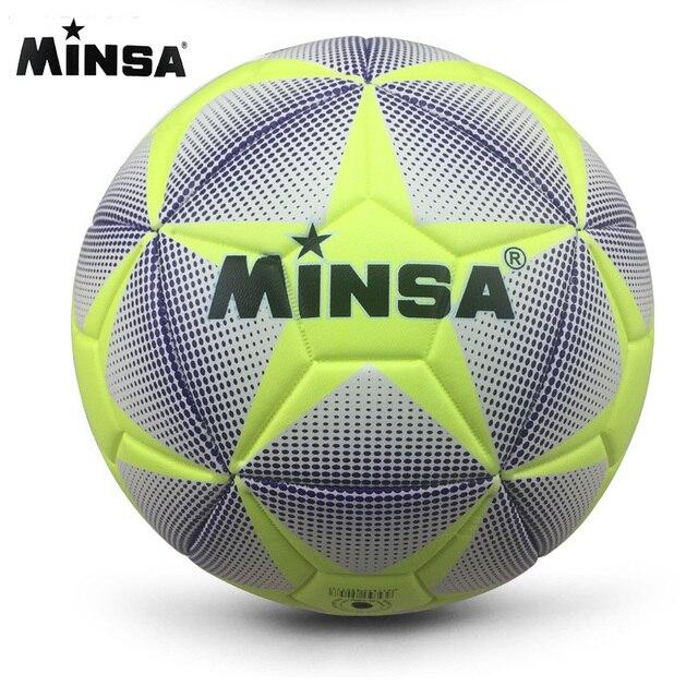 Nueva Marca MINSA de alta calidad A + + balón de fútbol estándar PU pelotas de entrenamiento de balón de fútbol tamaño oficial 5 y tamaño 4 bal